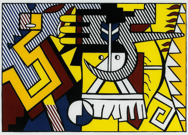 Roy Lichtenstein (American, 1923-1997); American Indian Theme VI;