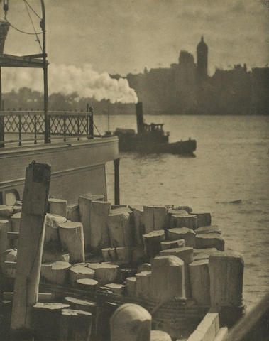 Alfred Stieglitz (American, 1864-1946); Nearing Land; The City Across the River; (2)