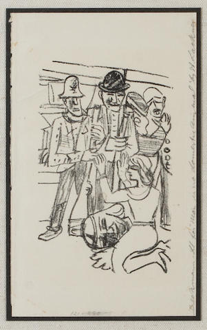 Max Beckmann (German, 1884-1950); Untitled, from Mensch ist kein Haustier;