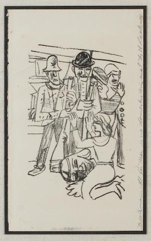 Max Beckmann (German, 1884-1950); Untitled, from Mensch ist kein Haustier ;