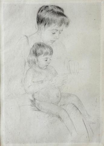 Mary Cassatt (American, 1845-1926); The Manicure;