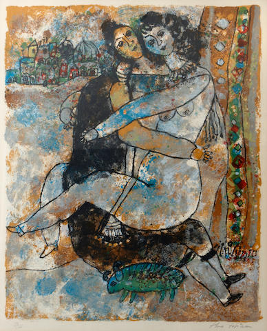 Théo Tobiasse (Israeli/French, born 1927); Untitled, from Song of Songs of King Solomon;