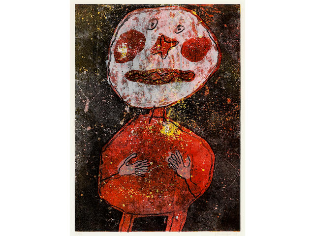 Jean Dubuffet (French, 1901-1985); Personnage au costume rouge;
