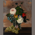 Ida Maria  A still life of flowers in a glass; also a companion still life both 15 1/2 x 13in