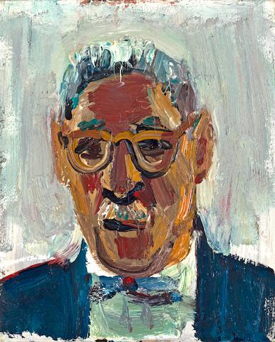 David Park (American, 1911-1960) Portrait of Jack Loewenberg, 1958 13 x 10 1/2in