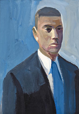James Weeks (American, 1922-1998) Young Man, 1962 9 1/2 x 7in