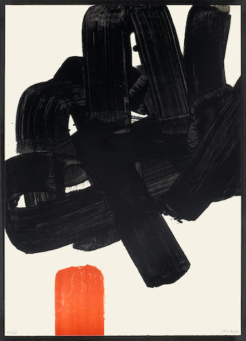 Pierre Soulages (French, born 1919); Lithographie No. 24b;