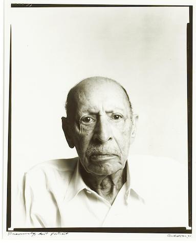 Richard Avedon (American, 1923-2004); Stravinsky, last portrait;