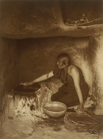 Edward S. Curtis (American, 1868-1952); The Piki Maker, Hopi;