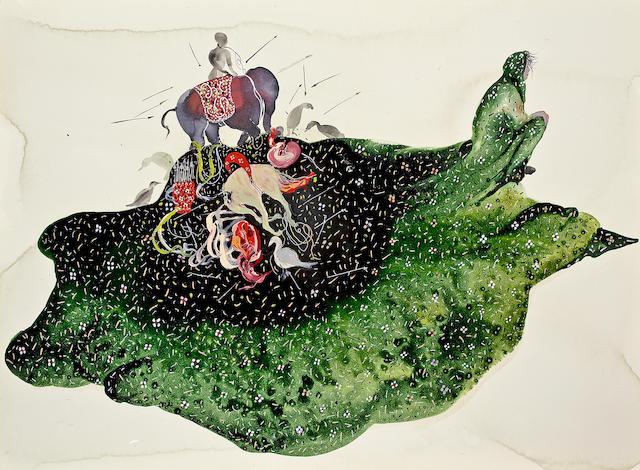 Shiva Ahmadi (Iran, born 1975) Green Veil #3, 2010 22 x 30in (55.8 x 76.2cm)