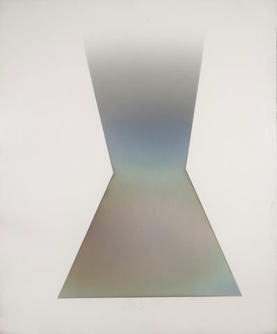 Larry Bell (American, born 1939) KF 11, 1978 52 x 42in