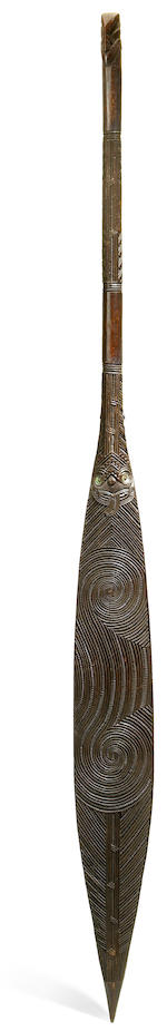 A Maori canoe paddle length 59 1/2in