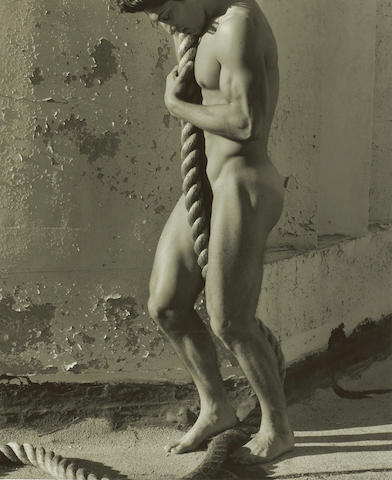 Herb Ritts (American, 1952-2002); Tony with Rope, Los Angeles;