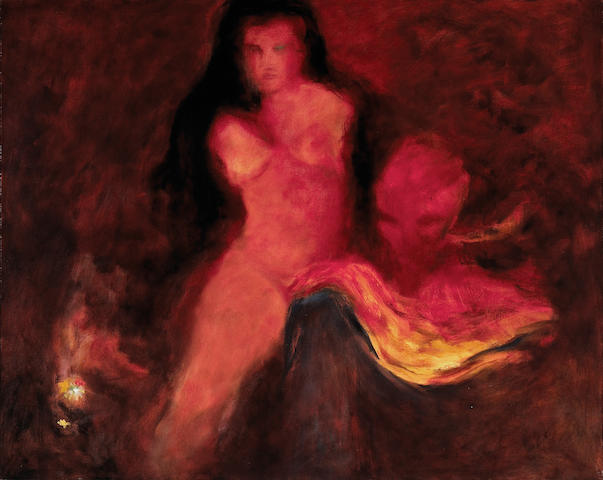 (n/a) Walter Kuhlman (American, 1918-2009) Nemesis, 1965 42 x 52in