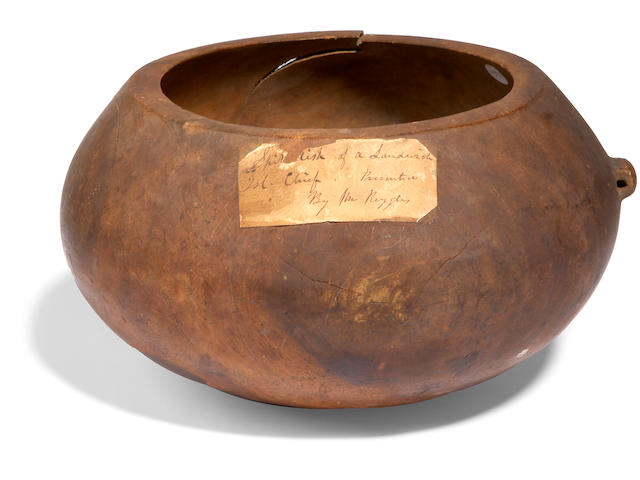 An important and rare refuse bowl, ipu 'aina, Hawaiian Islands