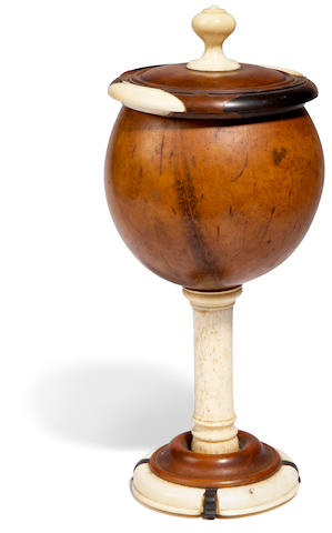A superb royal lidded pedestal bowl, Hawaiian Islands