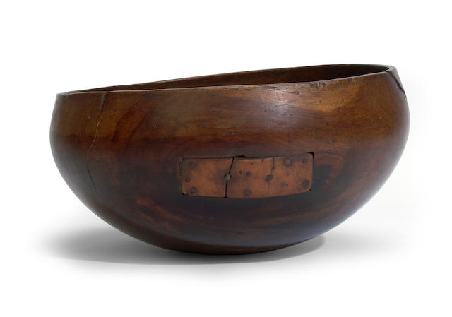 A wood bowl, pakaka, Molokai Island, Hawaiian Islands