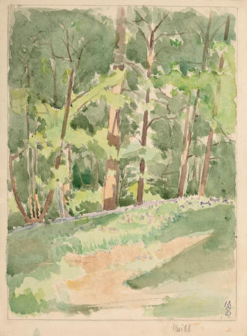 (n/a) Maurice Denis (French, 1870-1943) Paysage de forêt, 1888 11 3/4 x 8 3/4in (30 x 22.2cm)