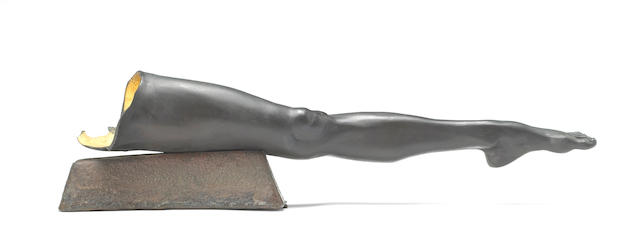 Robert Graham (American, 1938-2008) Untitled (Leg Fragment), 1985 6 2/4 x 25 1/4 x 5 1/4in