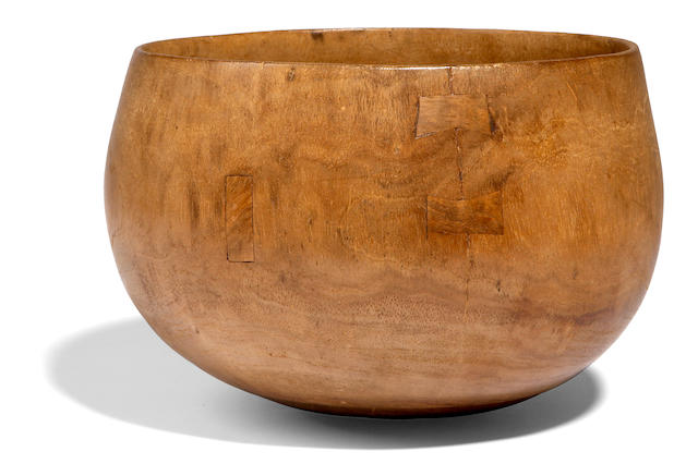 A rare and choice wood bowl, pakaka, Hawaiian Islands