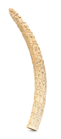 Luango Carved Ivory Tusk, Democratic Republic of the Congo
