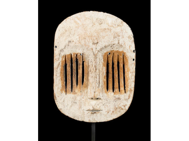 A Mbole-Yela mask  height 11 1/2in