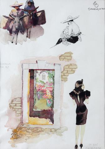 Carl Folke Sanlin watercolor studies (a pair)