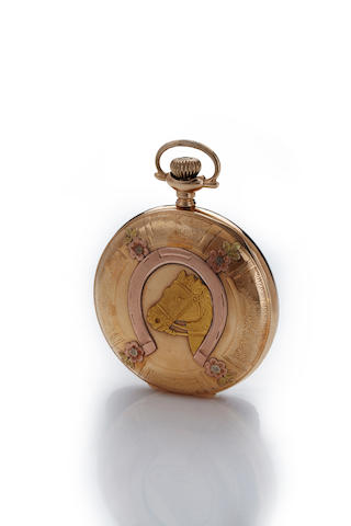 Elgin. An American multi color 14K gold hunter cased watchNo. 12196130, case by Brooklyn Watch Case Co., circa 1905