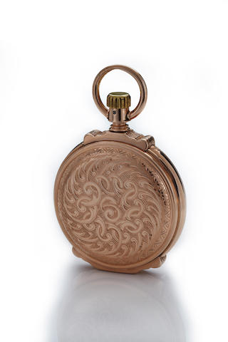Elgin. A fine American engraved 14K rose gold box hinge hunter cased watchNo. 6348264, case by Brooklyn Watch Case Co., circa 1895