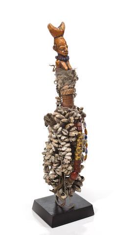 A Yoruba ivory whistle, Nigeria
