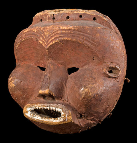 A rare Mbunda mask, Angola