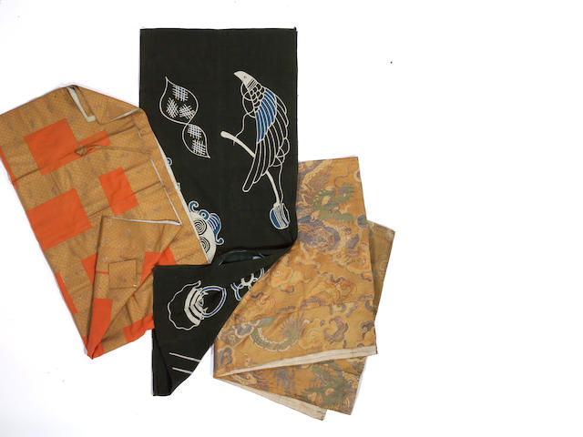 A group of three Japanese textiles