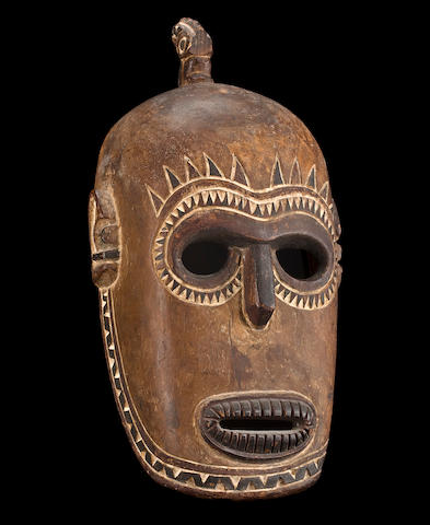 A rare Tami Islands balum cult mask, Melanesia, Papua New Guinea