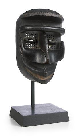 A Bete mask, Ivory Coast