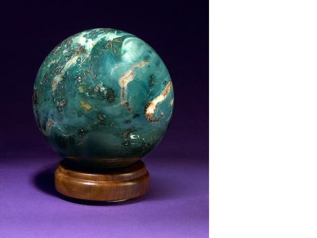 Green Petrified Wood Sphere