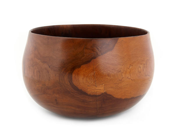 A wood bowl, pakaka, Hawaiian Islands