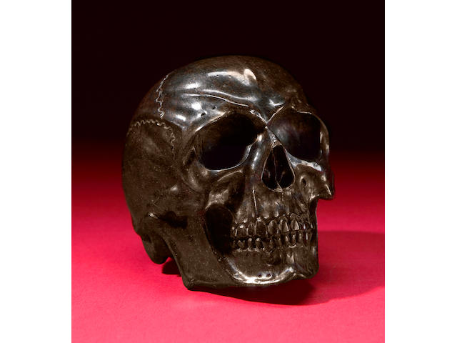 Meteorite Carving of Human Skull