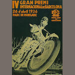 A poster for the Barcelona Grand Prix, Spanish, 1936,