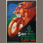 A poster for the Barcelona Grand Prix, Spanish, 1946,