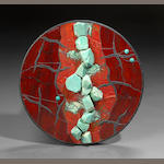 """Red Rupture"" Stone Mosaic"