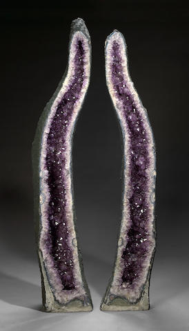 Large Pair of Amethyst Cathedrals