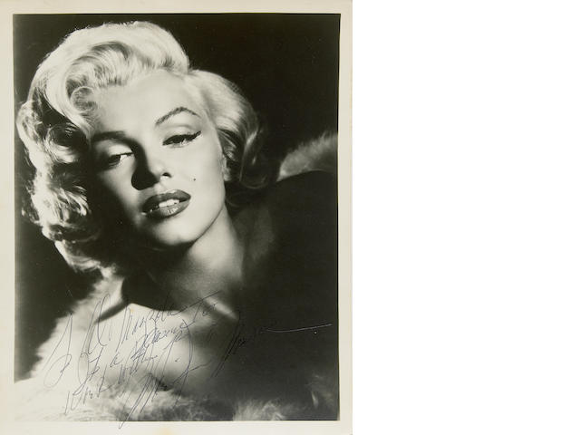 Marilyn Monroe signed photo