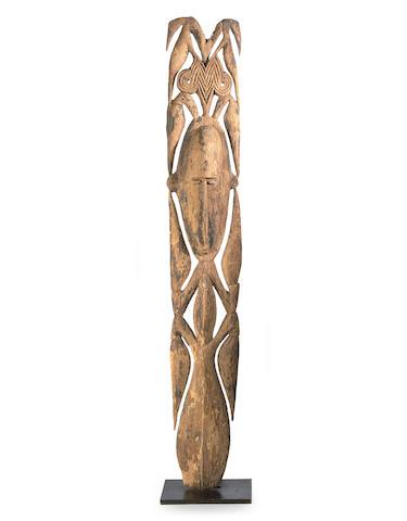 An ancestral male figure, Southern Maprik River, Papua New Guinea