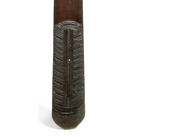 A Maori long club fighting staff, Taiaha, New Zealand