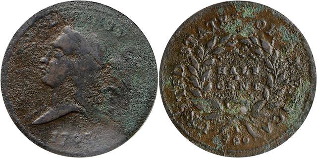 1793 1/2C PCGS Genuine