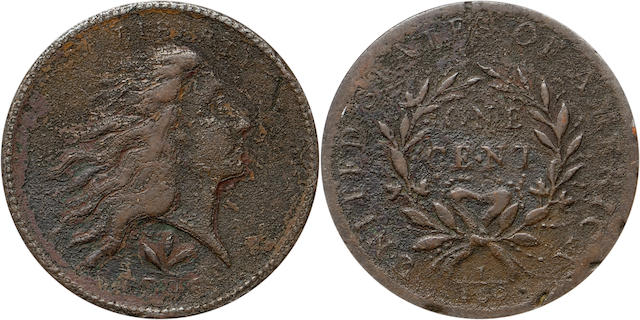 1793 Wreath 1C PCGS Genuine Vine and Bars Edge