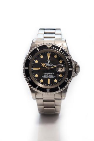 Rolex. A stainless steel automatic calendar bracelet watchSubmariner, Ref. 1680, Case No. 5861403, circa 1978.