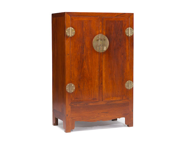 A pair of huanghuali cabinets