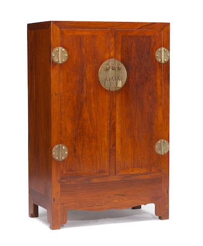 A pair of huanghuali cabinets Composed of Qing Dynasty elements