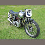 The ex-Rody Rodenberg, factory-built,1940 Triumph 500cc T100 Tiger Competition Frame no. TF40 30 Engine no. T100-31131